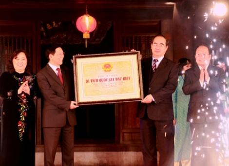 Văn Miếu - Quốc Tử Giám đón nhận Bằng Di tích Quốc gia đặc biệt
