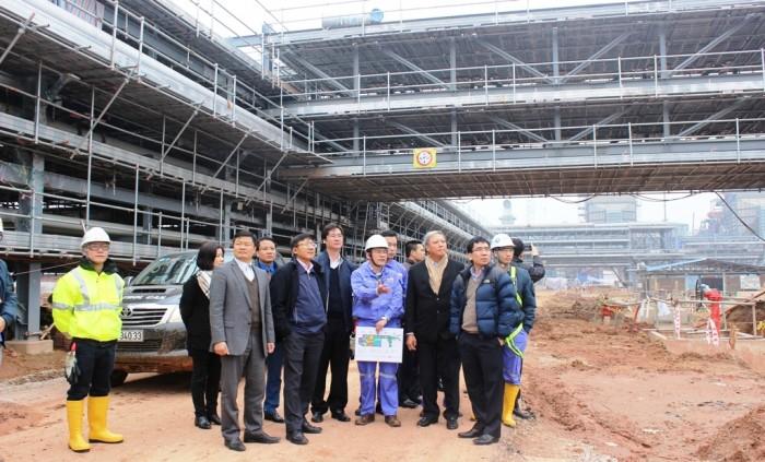Lãnh đạo Tập đoàn thăm và chúc tết Dự án Lọc hoá dầu Nghi