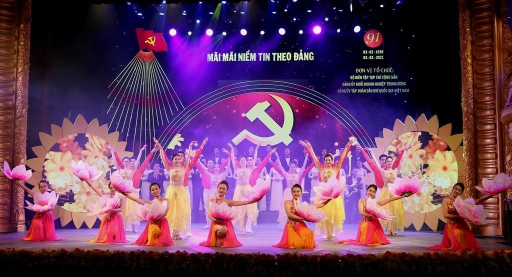 """Petrovietnam đồng hành cùng chương trình nghệ thuật """"Mãi mãi niềm tin theo Đảng"""""""