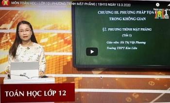 Hà Nội: Dạy học trên truyền hình cho học sinh từ lớp 4 đến lớp 12