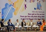 Nam giới và trẻ em trai tham gia thúc đẩy bình đẳng giới và xóa bỏ bạo lực giới