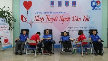 """Tuổi trẻ 4 đơn vị Dầu khí tổ chức chương trình hiến máu """"Nhiệt huyết người Dầu khí"""""""