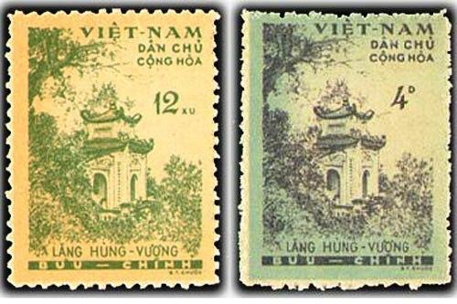 """""""Giỗ Tổ Hùng Vương"""" qua tem bưu chính"""