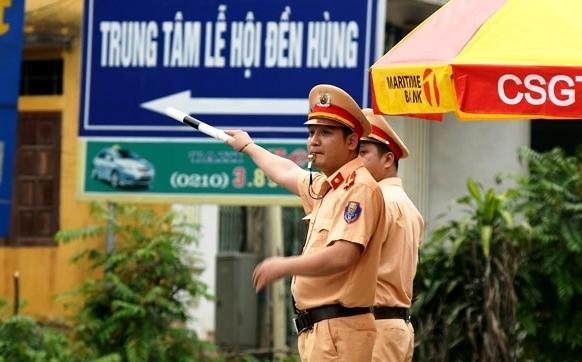 phu tho phan luong giao thong phuc vu le hoi den hung 2019