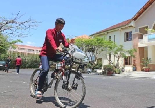 """Xe đạp """"lọc"""" không khí"""