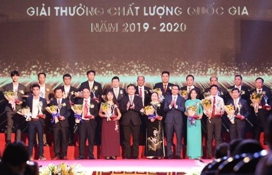Tôn vinh 116 doanh nghiệp đạt Giải thưởng Chất lượng quốc gia