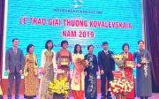 ton vinh tap the ca nhan dat giai thuong kovalevskaia 2019
