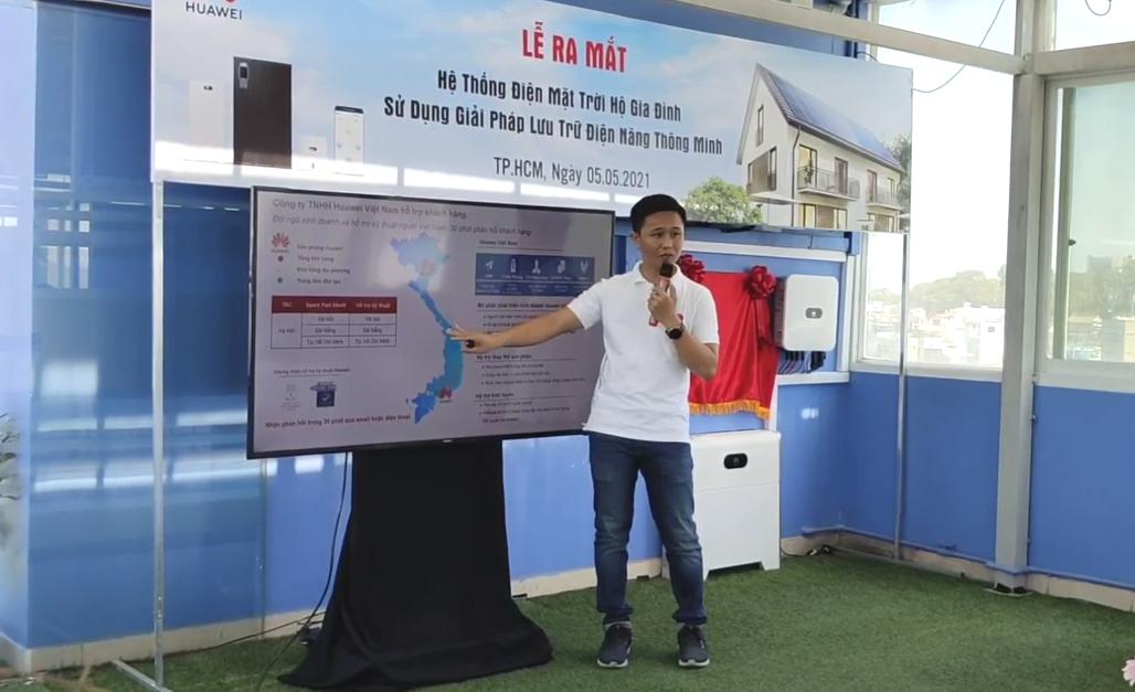 Ra mắt dự án điện mặt trời áp mái hộ gia đình sử dụng bộ lưu trữ thông minh