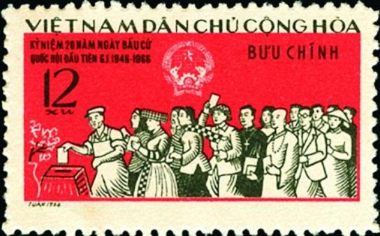 Bầu cử Quốc hội trên tem bưu chính