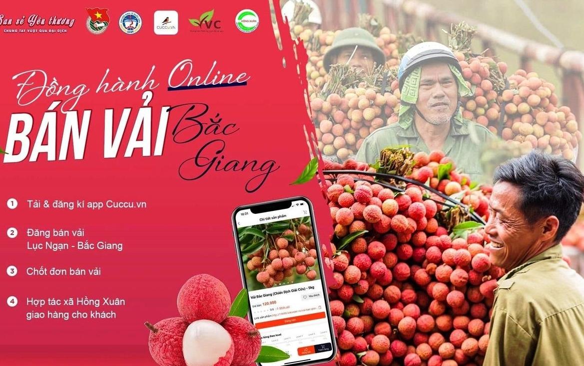 """Chiến dịch tình nguyện """"Đồng hành online - bán vải Bắc Giang"""""""