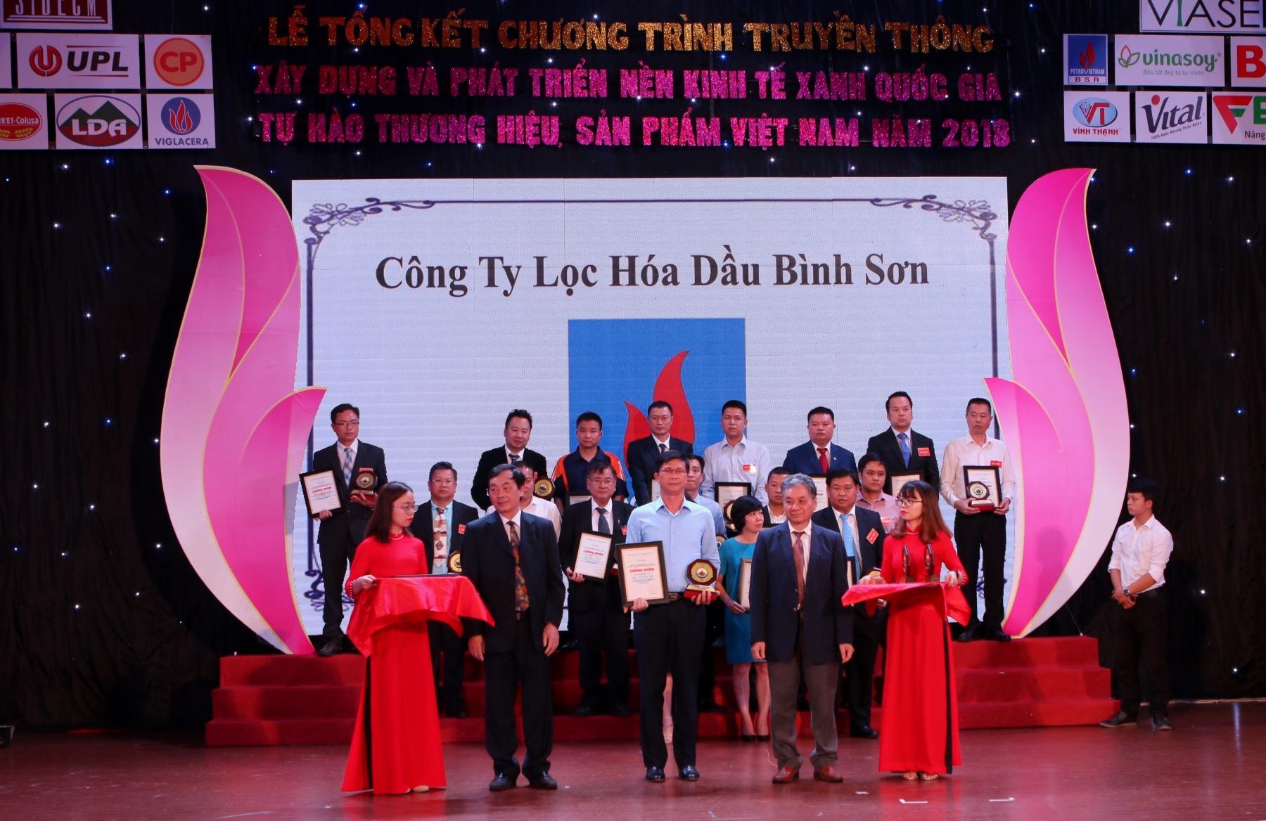bsr duoc vinh danh top 10 nha may xanh than thien nam 2018