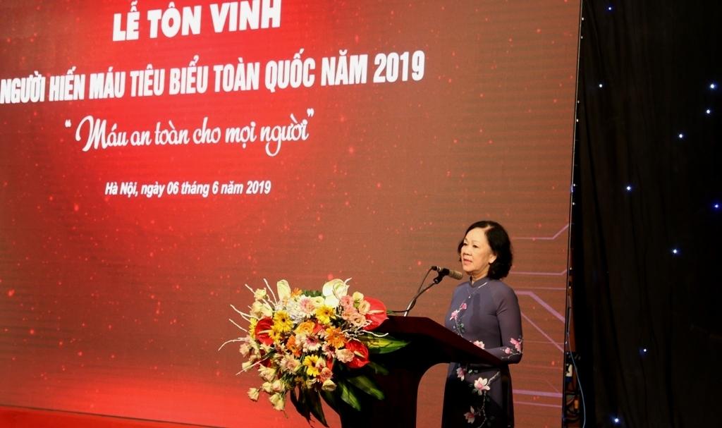 ton vinh 100 nguoi hien mau tinh nguyen tieu bieu nam 2019