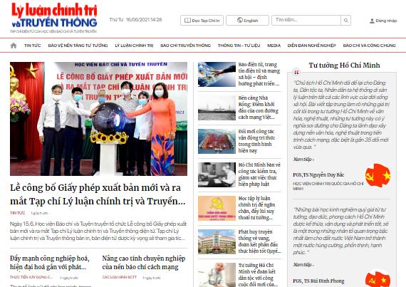 Học viện Báo chí và Tuyên truyền ra mắt Tạp chí Lý luận chính trị và Truyền thông điện tử