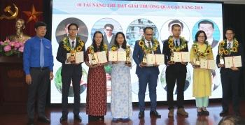 10 tài năng khoa học công nghệ trẻ nhận giải thưởng Quả cầu vàng 2019