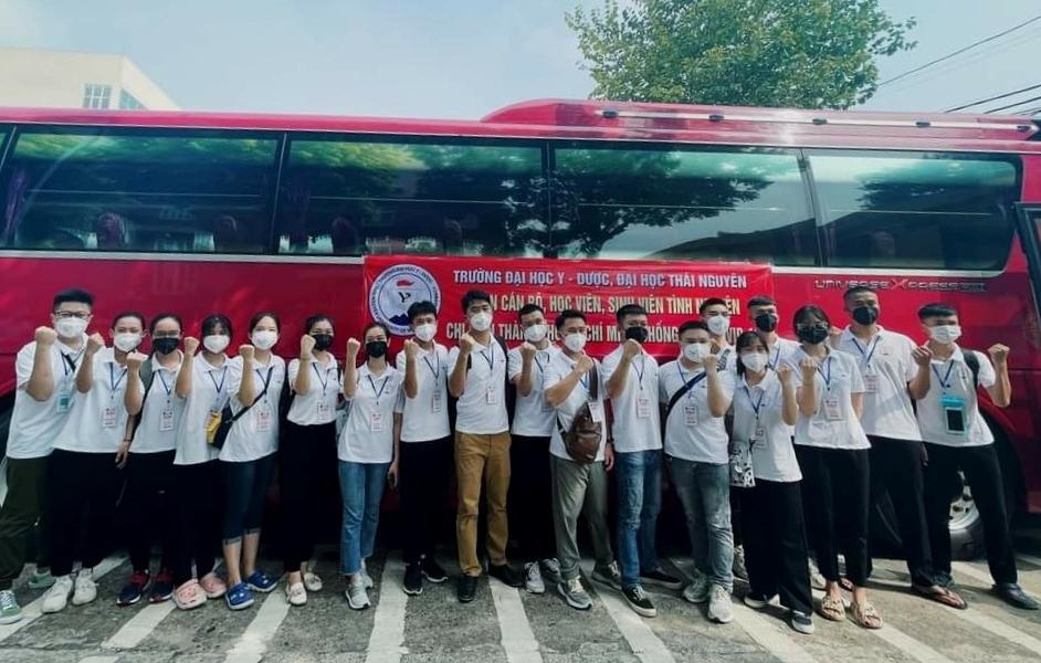 Hơn 300 tình nguyện viên Đại học Y - Dược Thái Nguyên vào TP HCM chống dịch