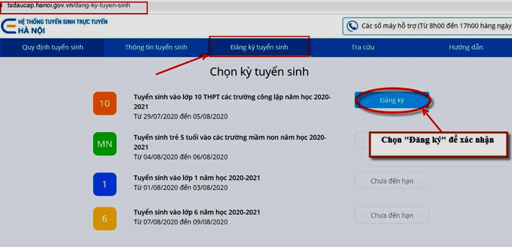 Hà Nội mở hệ thống xác nhận nhập học trực tuyến vào lớp 10