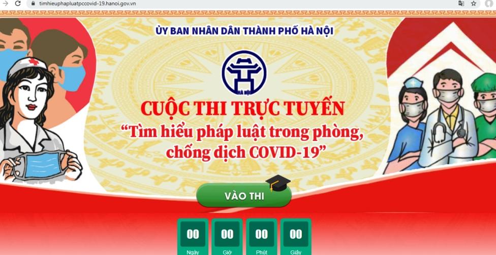 """Hà Nội: Hơn 1 triệu người thi """"Tìm hiểu pháp luật về phòng, chống dịch Covid-19"""""""