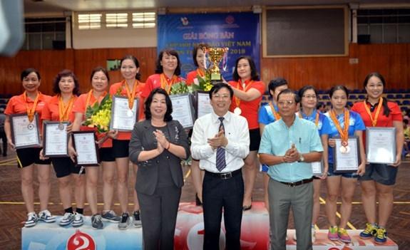Bế mạc Giải bóng bàn Cúp Hội Nhà báo Việt Nam lần thứ XII