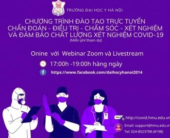 Đại học Y Hà Nội đào tạo khẩn cấp về chẩn đoán, điều trị, chăm sóc người bệnh Covid-19