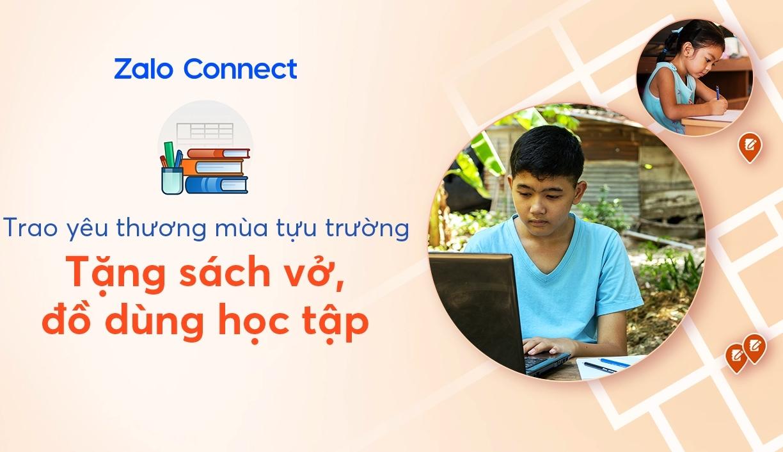 Cách dùng Zalo Connect hỗ trợ đồ dùng học tập cho học sinh khó khăn