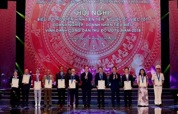 vinh danh 10 cong dan uu tu thu do 2018