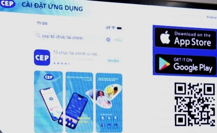 """Ra mắt ứng dụng """"App CEP - Đồng hành vượt khó"""""""