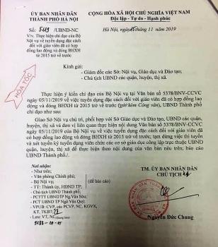 Hà Nội tạm dừng thi, xét tuyển viên chức giáo dục