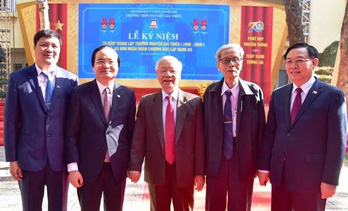 Tổng Bí thư, Chủ tịch nước dự lễ kỷ niệm 70 năm thành lập Trường THPT Nguyễn Gia Thiều