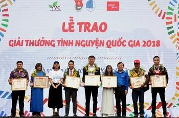 Tôn vinh 18 tập thể, cá nhân đạt giải thưởng Tình nguyện Quốc gia năm 2018