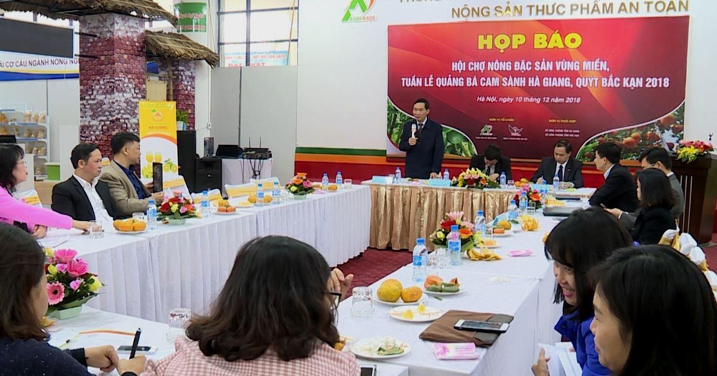 Cam sành Hà Giang, quýt Bắc Kạn đến với người tiêu dùng Thủ đô