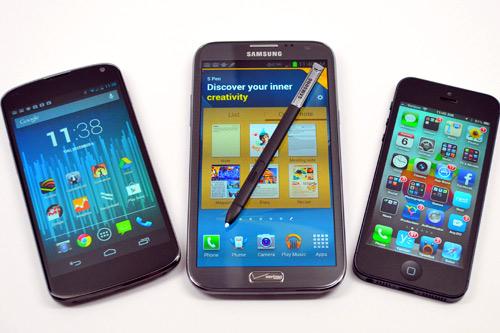 """Smartphone màn hình khủng """"lên ngôi"""" trong 2013?"""