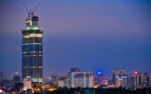 Hôm nay cất nóc tòa nhà cao thứ nhì Hà Nội
