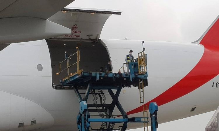 Bắt đầu vận chuyển lô vaccine từ máy bay về Viện Vệ sinh dịch tễ Trung ương. - Ảnh: VGP