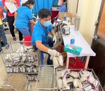 Người lao động Vietsovpetro tích cực tham gia hiến máu nhân đạo