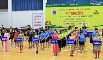 Khai mạc Giải bóng bàn toàn quốc Báo Nhân Dân tranh Cúp Petrovietnam - Đạm Cà Mau