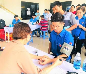 Người lao động Vietsovpetro hưởng ứng chương trình hiến máu nhân đạo
