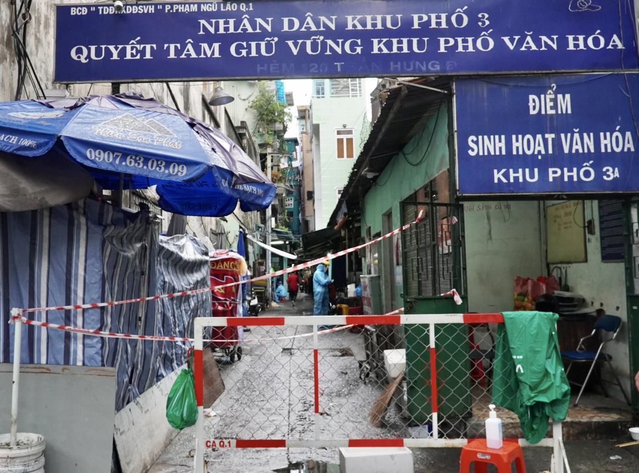 hong tỏa tạm thời hẻm 120 Trần Hưng Đạo, Phường Phạm Ngũ Lão, Quận 1