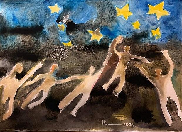 Tác phẩm của nhà văn, họa sĩ Nguyễn Quang Thiều