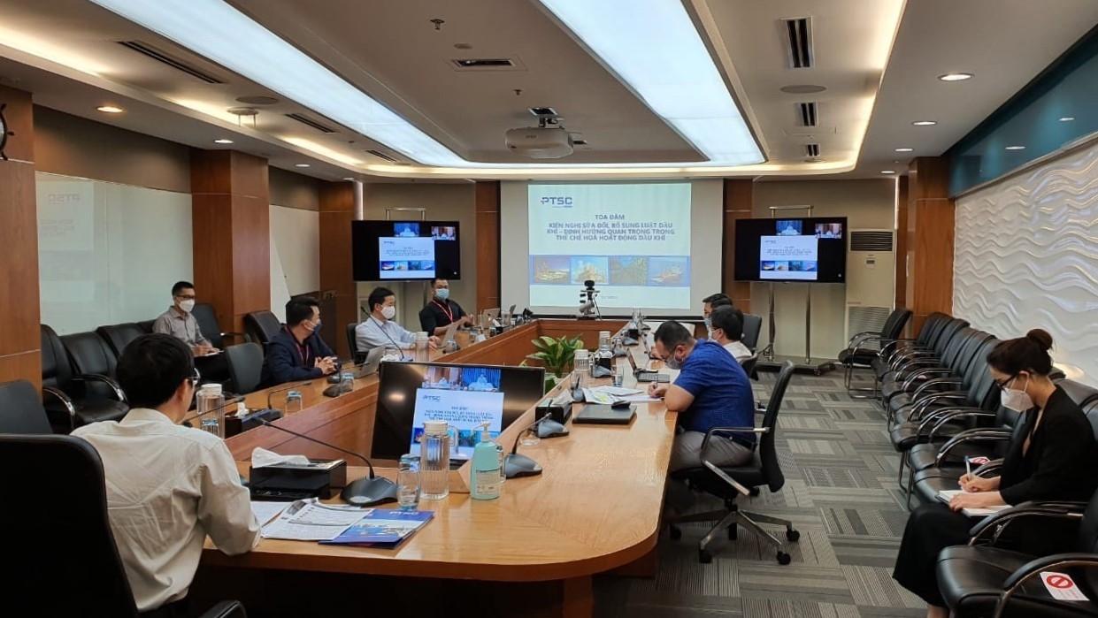 PTSC tổ chức tọa đàm đóng góp ý kiến cho Dự thảo Luật Dầu khí (sửa đổi)