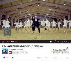 gangnam style vuot nguong 1 ty luot xem tren youtube