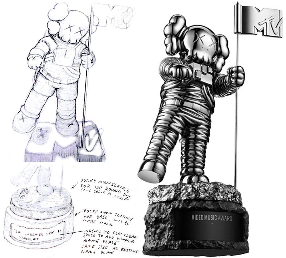 Phiên bản cúp Moonman hoàn toàn mới của MTV VMA 2013