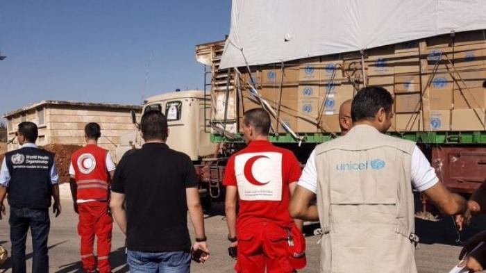 doan xe cuu tro lien hop quoc bi khong kich o syria