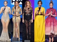 Jennifer Lopez 'khoe váy' tại lễ trao giải âm nhạc Mỹ