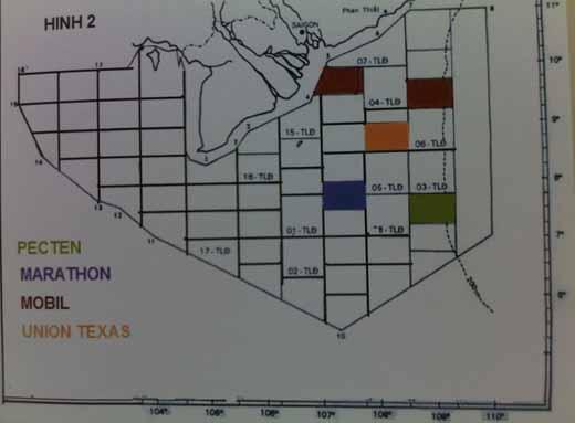 Lô và phân lô, việc đặt tên cho mỏ dầu khí trên Biển Đông, hợp đồng dầu khí Việt Nam và trên thế giới