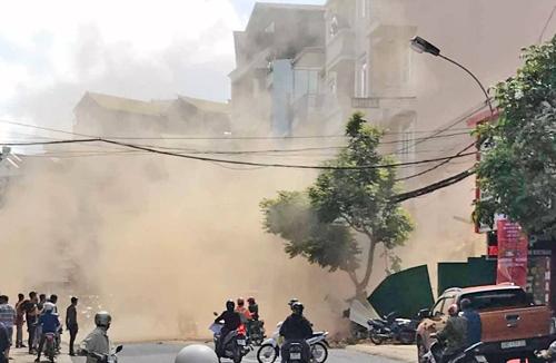 Lâm Đồng: Sập công trình, 3 người bị thương