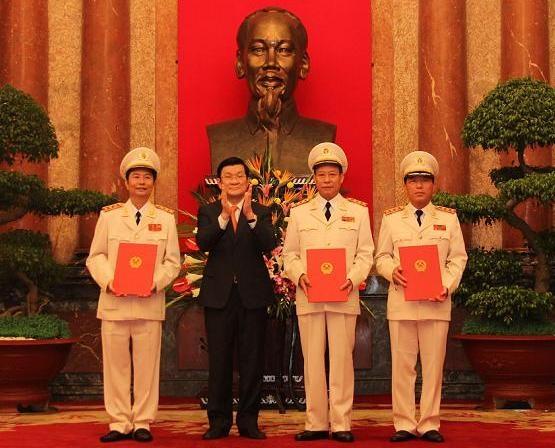 Ba Thứ trưởng Bộ Công an được thăng cấp bậc hàm Thượng tướng