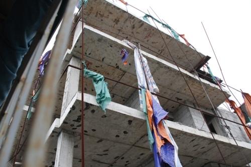 Cận cảnh công trình xây dựng sai phạm ở phường Thổ Quan
