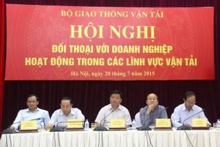 Bộ trưởng Đinh La Thăng tháo gỡ khó khăn cho doanh nghiệp vận tải