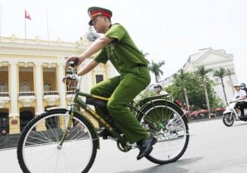Hà Nội: Cảnh sát trật tự thí điểm đi tuần tra bằng xe đạp