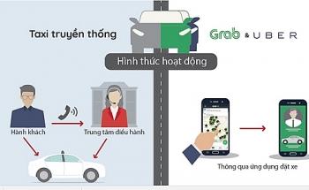 tranh luan ve de xuat cho phep xe grab khong gan mao nhu taxi